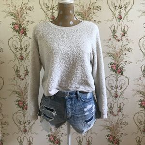 Abercrombie and Fitch White Fluff Sweater